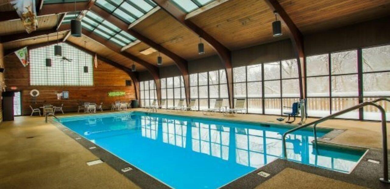 Burr Oak swimming pool interior