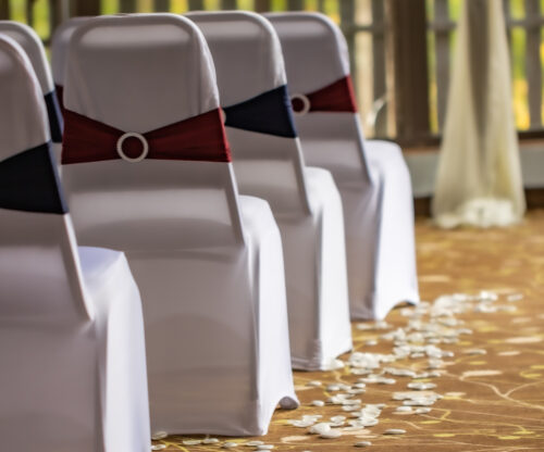 Linen Wrapped Wedding Chairs