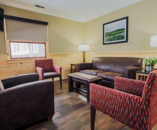 Burr Oak cabin living area