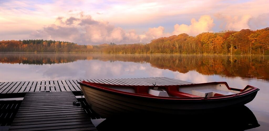 Canoe on a lake